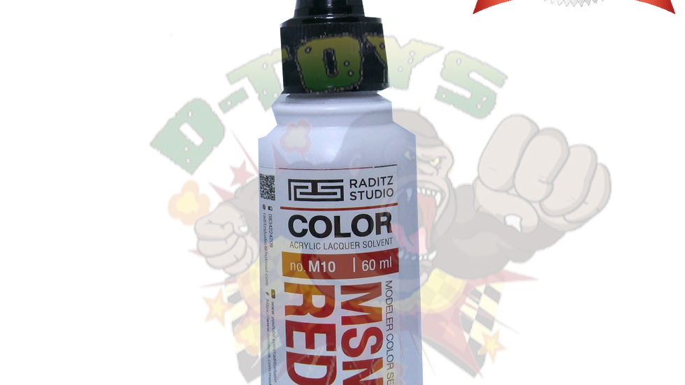 สีโมเดล MSN04 RED3 Hi Gloss  ขนาด 60 ml สำหรับ Airbrush