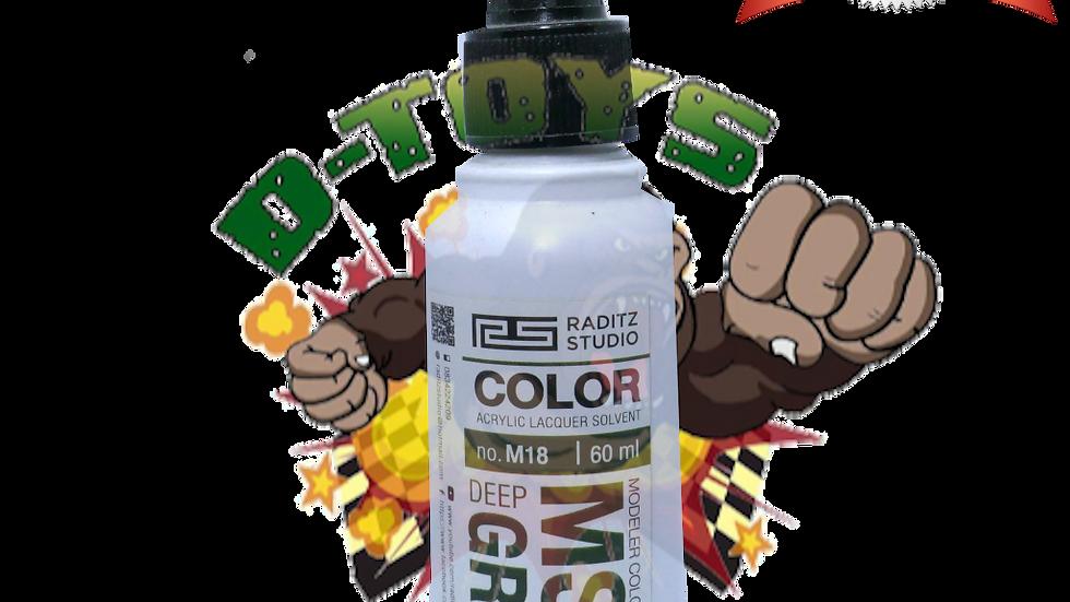 สีโมเดล MS06 DEEP GREEN Hi Gloss ขนาด 60 ml สำหรับ Airbrush