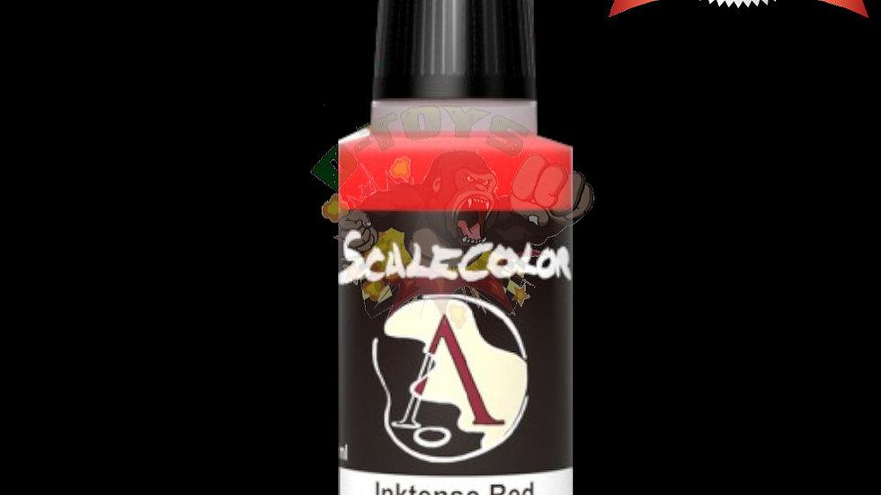 สีทาสูตรน้ำโปร่งใส สีโมเดล รถเหล็ก กันดั้ม  Scale 75 Inktense Red 17 ml