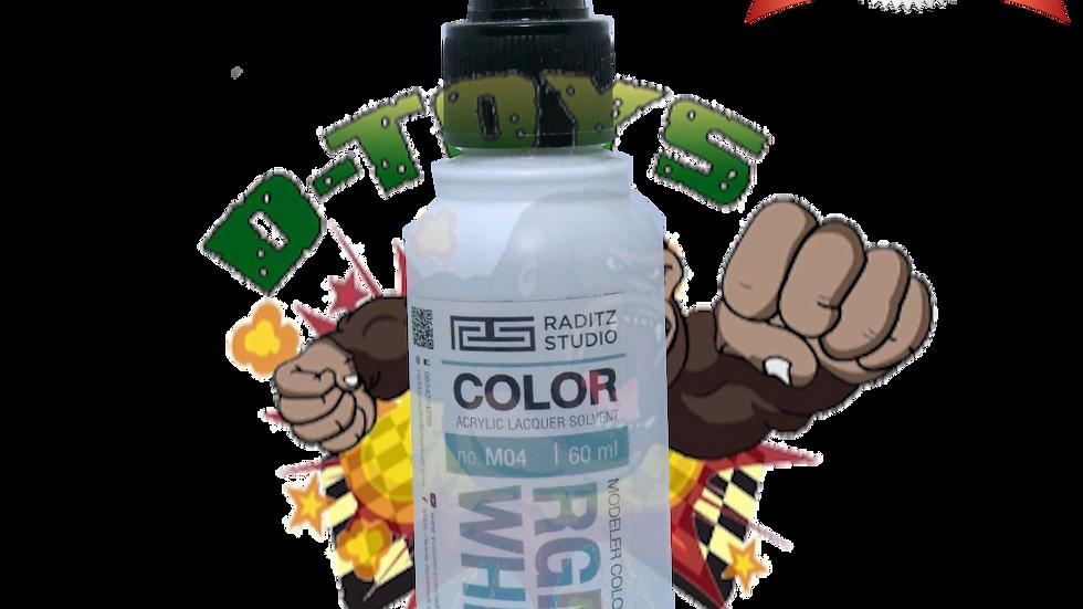 สีโมเดล RGM79 WHITE1 Hi Gloss  ขนาด 60 ml สำหรับ Airbrush