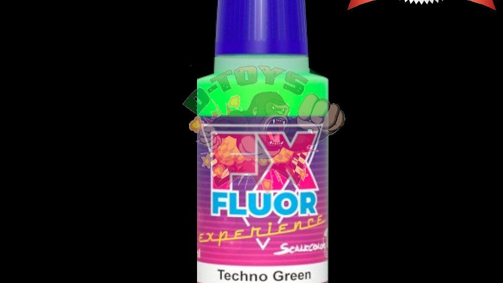 สีทา สีโมเดล รถเหล็ก กันดั้ม สูตรน้ำเรืองแสง Scale 75 Techno Green 17 ml