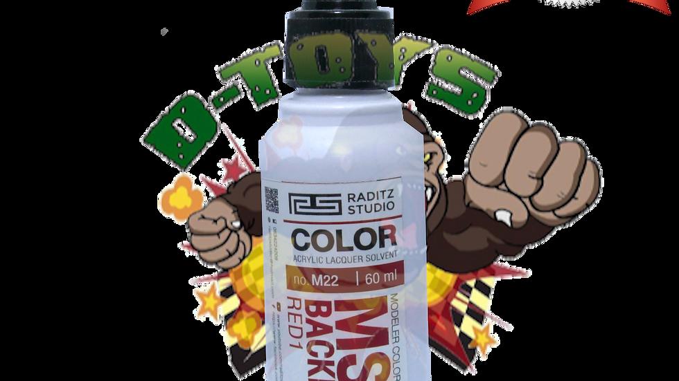 สีโมเดล MS06 BACKPACK RED1 Hi Gloss  ขนาด 60 ml สำหรับ Airbrush