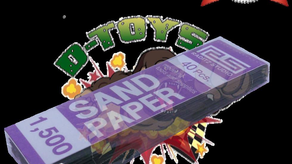 DRY PAPER #1500 (กระดาษทรายขัดแห้งและขัดน้ำ ทลายเทาเข้มละเอียดพิเศษ) 1 แพ๊ค