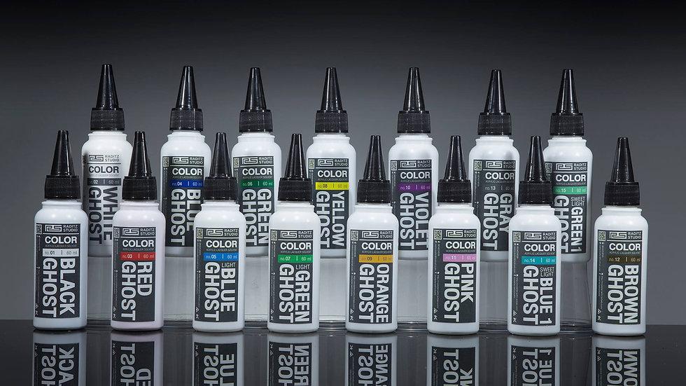 สีโมเดล Ghost Color Series มันเงาพิเศษทึบ ขนาด 60 ml สำหรับ Airbrush