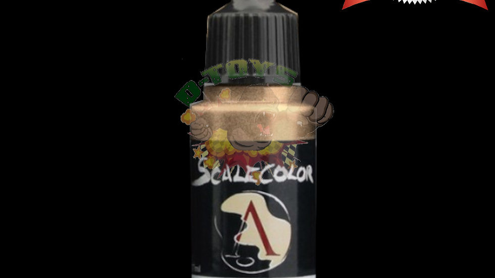 สีสูตรน้ำผสมเม็ดโลหะ สีโมเดล รถเหล็ก กันดั้ม  Scale 75 Amber Alchemy 17 ml