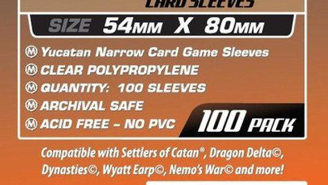 Yucatan Narrow Card Sleeves 54 x 80 mm [7109]