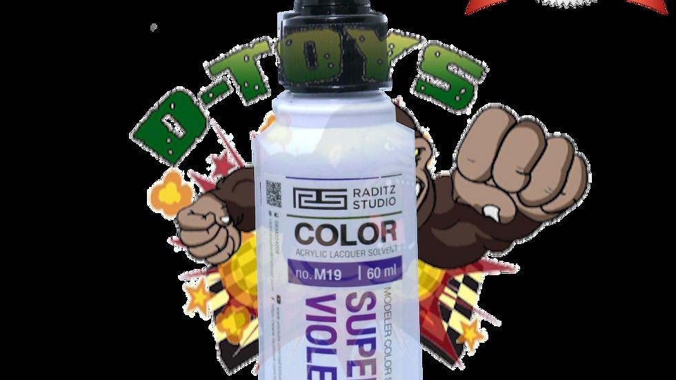 สีโมเดล Super Violet Z Hi Gloss  ขนาด 60 ml สำหรับ Airbrush
