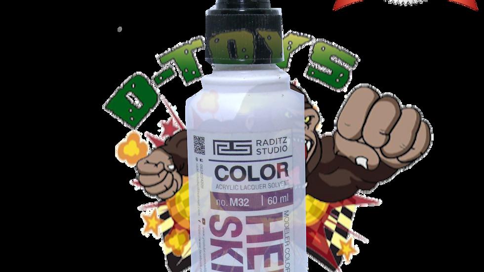 สีโมเดล HERO SKIN4 Hi Gloss  ขนาด 60 ml สำหรับ Airbrush