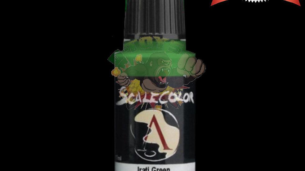 สีสูตรน้ำ สีโมเดล รถเหล็ก กันดั้ม  Scale 75 Irati Green 17 ml
