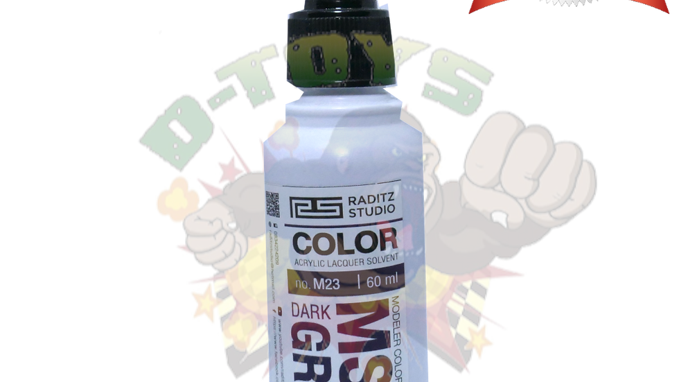 สีโมเดล MS06 DARK GREY 1 Hi Gloss  ขนาด 60 ml สำหรับ Airbrush
