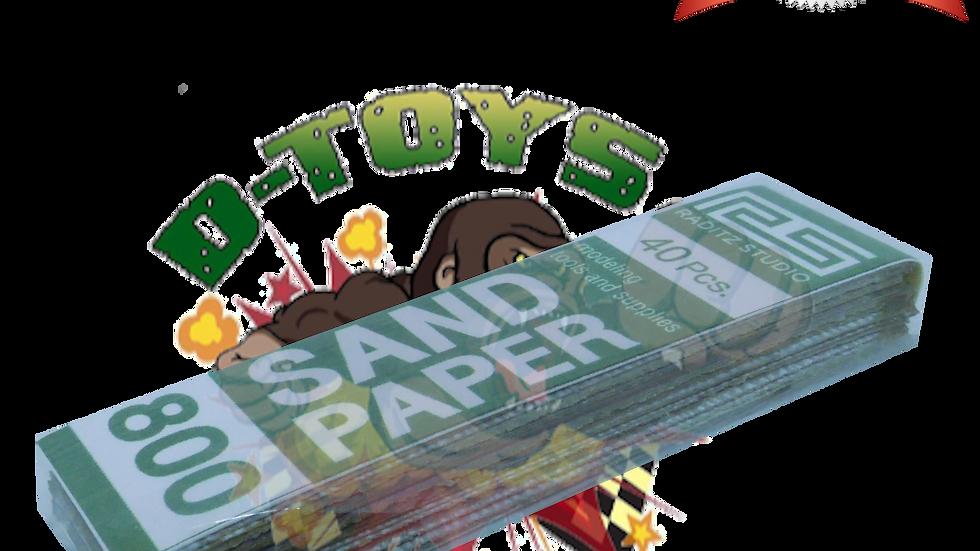DRY PAPER #800 (กระดาษทรายขัดแห้ง ทรายขาว) 1 แพ๊ค