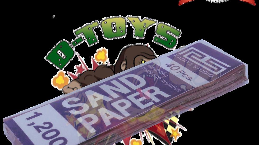 DRY PAPER #1200 (กระดาษทรายขัดแห้งและขัดน้ำ ทลายแดงละเอียดพิเศษ) 1 แพ๊ค