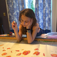 student painting silk tallit.jpg