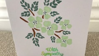 With sympathy green branch