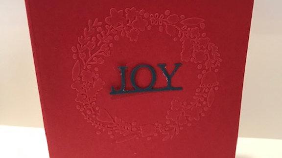Joy embossed wreath