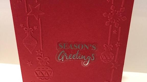 Seasons Greetings embossed