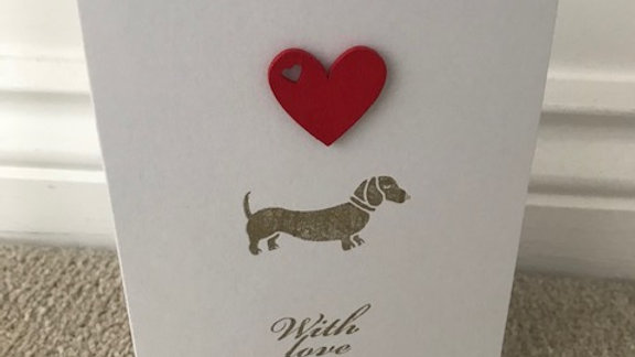 With Love Gold Dacshund