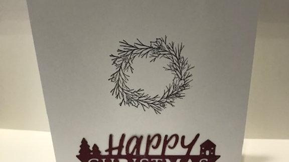 Happy Christmas Wreath