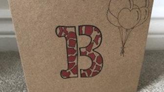 B leopard red metallic