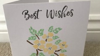 Best Wishes Yellow Pastel
