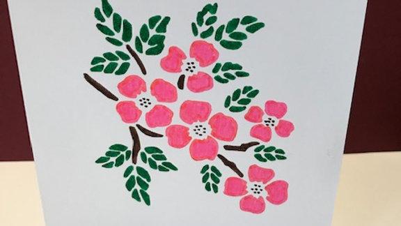 Birthday pink branch