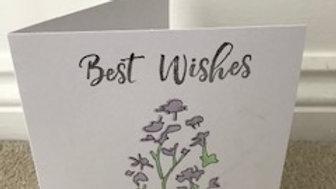 Best Wishes Lavendar Pastel