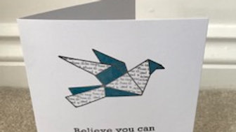 Blue Metallic Bird