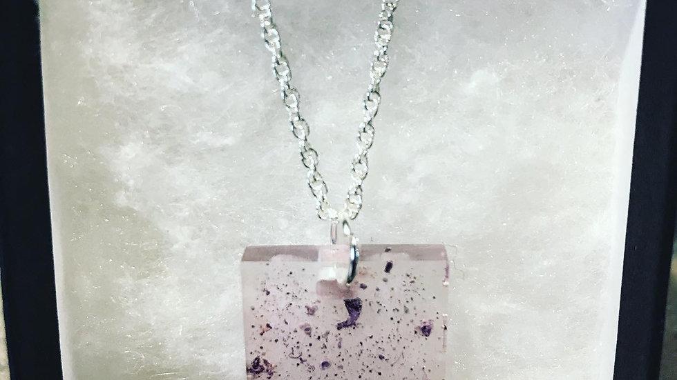 Purple Resin Necklace