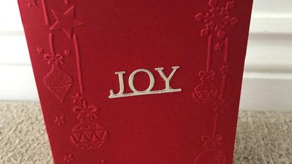 Embossed Joy Baubles
