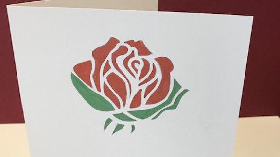 Birthday red rose