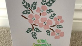 With Sympathy Pink Branch