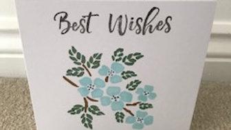 Best Wishes Blue Pastel