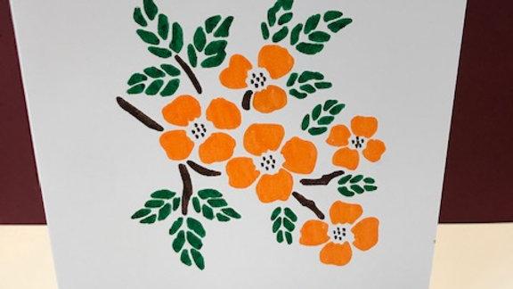 Birthday orange branch