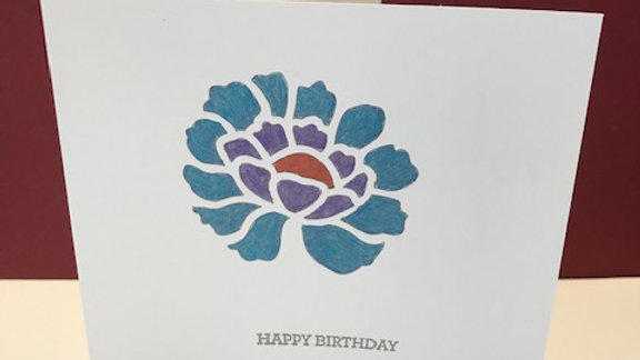 Birthday Blue Flower