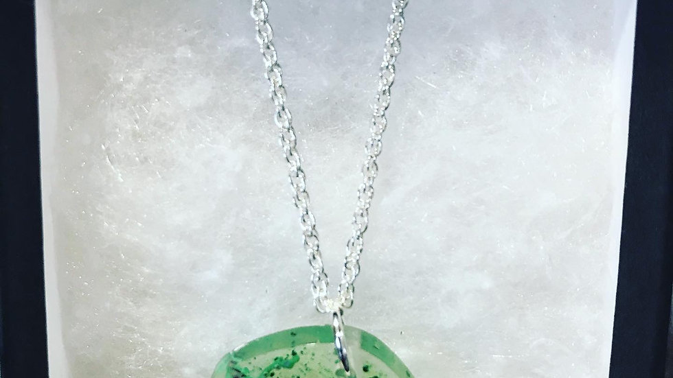 Emerald Green Resin Necklace