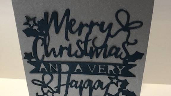 Silver and Navy Merry Christmas