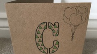 C triangle green metallic