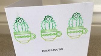 For all you do cactus