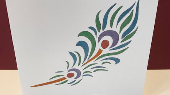 Birthday feather