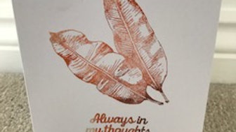 Always in my thoughts leaf