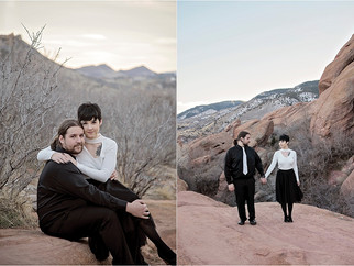 Hannah + Andrew: A Red Rocks Engagement | Feathered Penny | Colorado Engagement Photographer