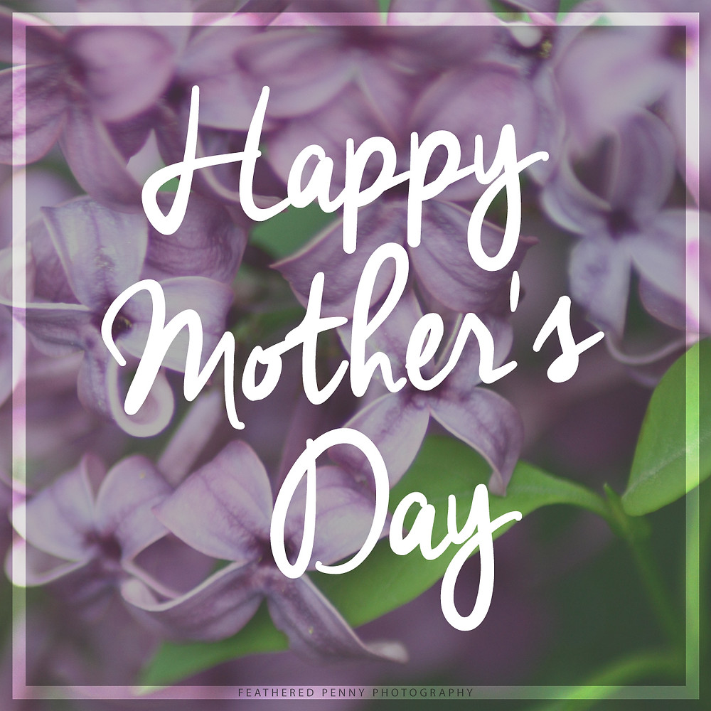 A photo of lilacs with the phrase Happy Mothers Day written across it.