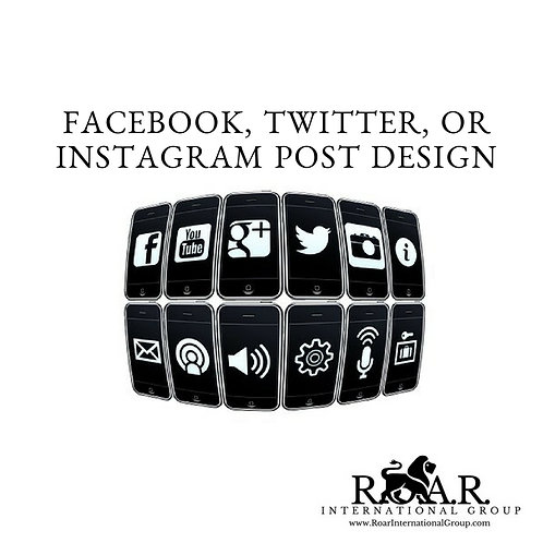 Facebook, Twitter, or Instagram Post Design