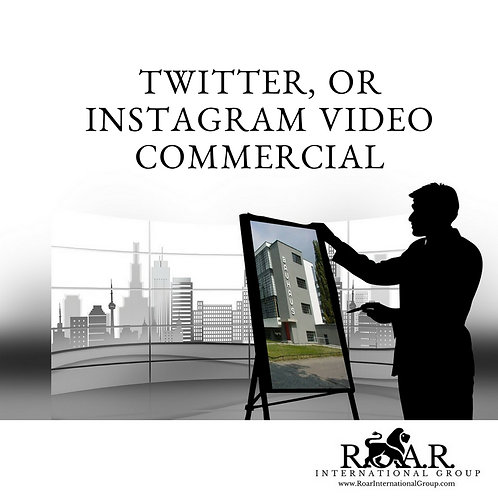 Twitter, or Instagram Video Commercial