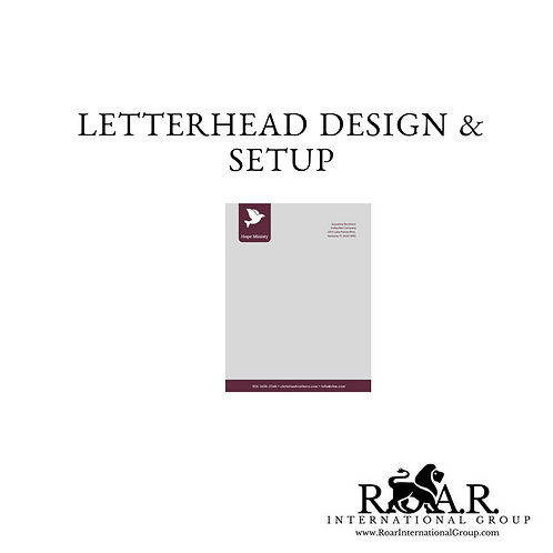 Letterhead Design and Setup