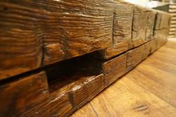 Reclaimed Barn Board Mantel