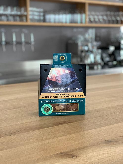Räucherbox, V-Form mit Wood Chips für den Gasgriller