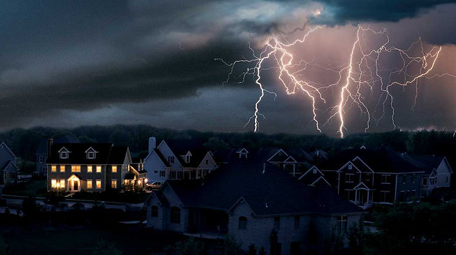 kohler-lightning-over-suburb-power-outag