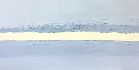 wieczorne niebo XXII, 40x80 cm, olej płó