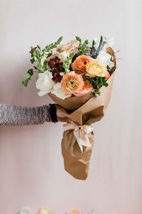 wrapped flower bouquet | Bloom Floral Design | Charlevoix